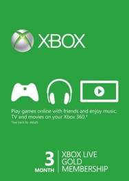 Xbox Live Gold 3 Months worldwide Scan